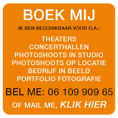 Boek fotograaf voor theater, concert, promotie, bandfoto, portfolio